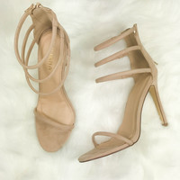 Close To You Strappy Nude Heels