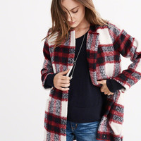 PLAID WOOL-BLEND JACKET