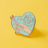 Crafty Bitch Enamel Pin // Craft Pin, Craft Mom, Artist Lapel Pin  EP218