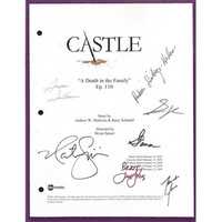 "Castle ""A Death in the Family"" Episode TV Script Autographed: Stana Katic, Susan Sullivan, Nathan Fillion, Ruben Santiago-Hudson"