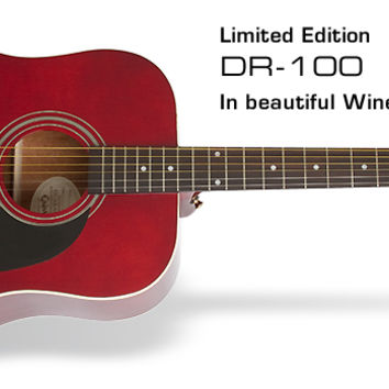 Epiphone Ltd. Ed. DR-100 Wine Red