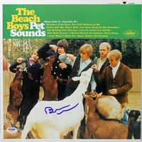 Brian Wilson The Beach Boys Authentic Signed Album Cover Psa/Dna W79161