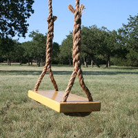 Medium Yellow Tree Swing