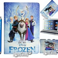 NEW! FROZEN iPad Mini Disney Princess Gift Set Incl: Faux Leather PVC Case with FREE Stylus & Disney Princess Gift Item
