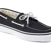 Sperry Top-Sider Mens Canvas Bahama Boat Shoe in Varsity Black STS10645