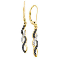 Diamond Fashion Earrings in 14k Gold 0.32 ctw