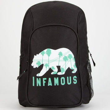 Infamous Bear Backpack Black One Size For Men 25346010001
