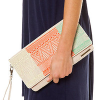 ONeill Bag Avery Clutch Bag in Linen Beige