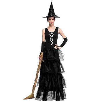 ESBON VASHEJIANG Adult Gothic Witch Costume The Wizard of Oz the Flying Sorceress Role Playing Sexy Halloween Costumes for women