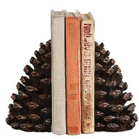 Pine Cone Book Ends - 7-in