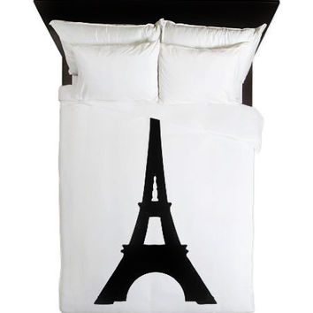 Duvet Cover - Eiffel Tower - Paris Duvet - Teen Room Decor - Glamour Decor - Fashion Decor - Dorm Decor - Paris Decor - Eiffel Tower Duvet