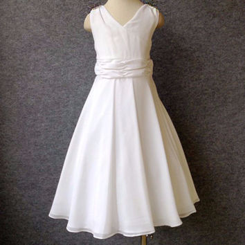 "The ""Julianna"" Girls & Tween Rhinestone Flower Girl Dress"