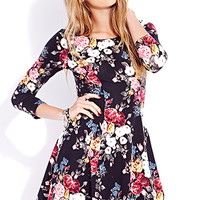 Sweet Rose Skater Dress