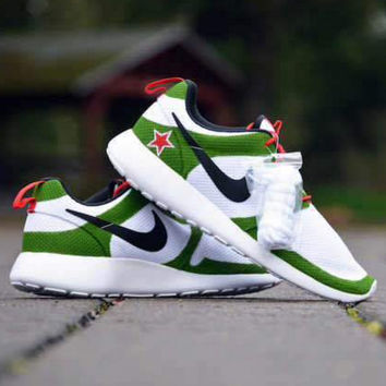 """NIKE"" Trending Fashion Casual Sports Shoes green white star flage"