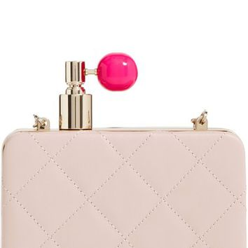 kate spade new york 'on pointe - perfume bottle' quilted leather clutch | Nordstrom