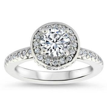 Diamond Halo Engagement Ring - Out of This World