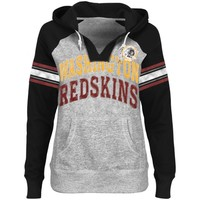 Washington Redskins Ladies Huddle V-Neck Hoodie - Steel/Black