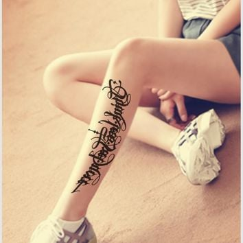 6 style optional waterproof sexy letters chest arms and legs back temporary tattoos, Disposable body painting decorative tattoo
