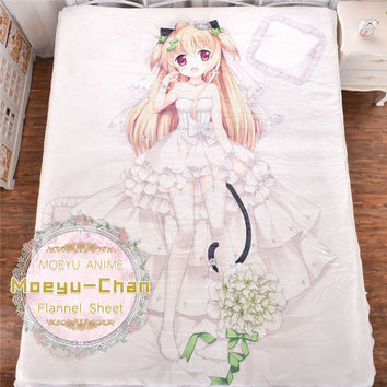 Japanese Anime Fluffy Blanket Cartoon Carpet Flannel Bedspread Fur Bedding On The Bed Sofa