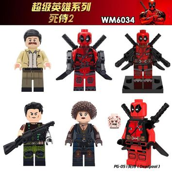 Deadpool Dead pool Taco For Legoing Marvel Movie  2 Super Heroes Domino Cable Peter Armed  Model Building Blocks Toys Bricks Figures AT_70_6