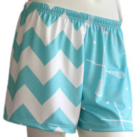 Sublimated Sportabella AQUA CHEVRON Loose Short - Sportabella, Ltd Store