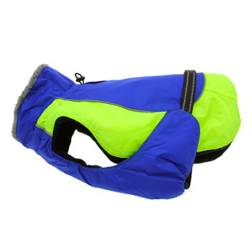Alpine Blue and Green All Weather Dog Coat