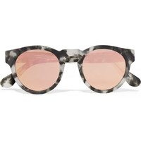 Westward Leaning x Olivia Palermo - Voyager 15 round-frame acetate mirrored sunglasses