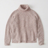 Womens Shaker Turtleneck Sweater | Womens New Arrivals | Abercrombie.com