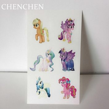 Temporary Tattoo sticker for body art unicorn fly horse cartoon water transfer flash tattoo fake tatoo for kid child tattoos