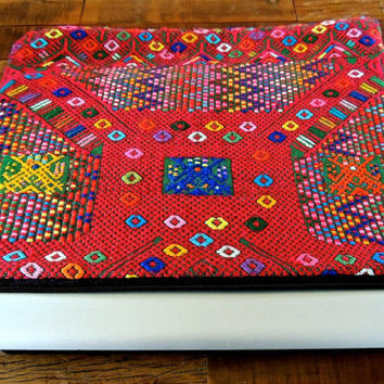 "14"" Inch Huipil Hand-Embroidered Laptop Case- Sleeve-Clutch"