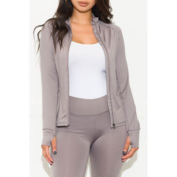 Don't Let Me Down Active Jacket Silver Grey