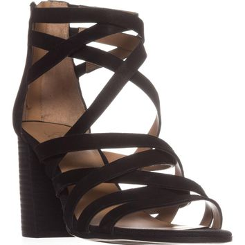 Franco Sarto Madrid Strappy Heeled Sandals, Black, 9 US / 39 EU