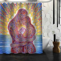 Custom Tool Band Rock Metal shower curtain new large European and American big print edition polyester shower curtains bathroom