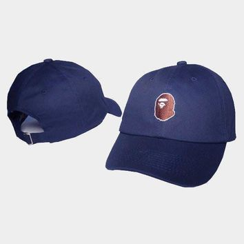 cc qiyif A Bathing Ape Navy Baseball Hat