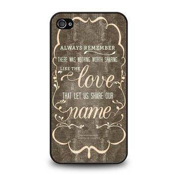THE AVETT BROTHERS QUOTES iPhone 4 / 4S Case Cover
