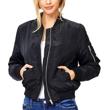 Aviator Padded Bomber Jacket