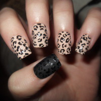 cute cheetah print nail designs - Google Search