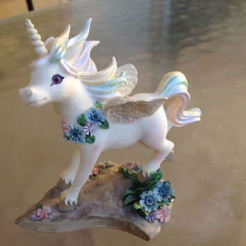 Unicorn Figurine, Unicorn First Figurine, Collectible Unicorn, Pegasus Unicorn Figurine, Unicorn Lover Gift, Fantasy Animal, First Unicorn
