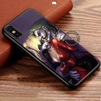 Harley Quinn and Joker iPhone X 8 7 Plus 6s Cases Samsung Galaxy S8 Plus S7 edge NOTE 8 Covers #iphoneX #SamsungS8
