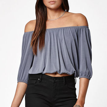 LA Hearts Cupro Off-The-Shoulder Top at PacSun.com
