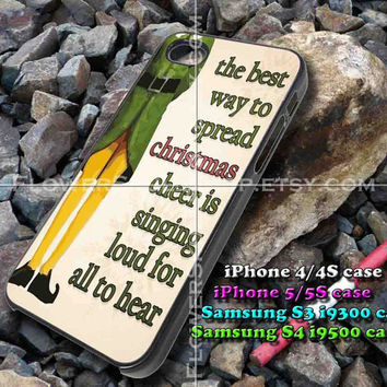 Christmas elf quote iphone case, iphone 4/4S, iphone 5/5S, iphone 5c, samsung s3 i9300, samsung s4 i9500, design accesories