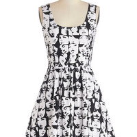 ModCloth Statement Mid-length Sleeveless A-line Good Enough to Glance Dress