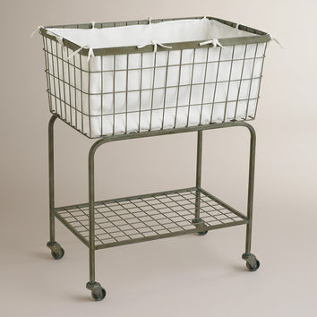 Ellie Rolling Laundry Cart - World Market