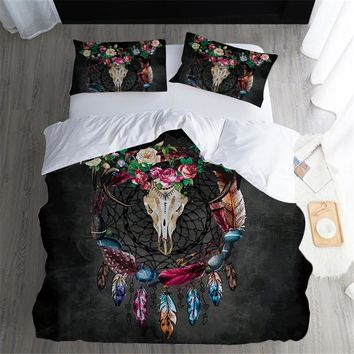 Fanaijia 3D Dream catcher feather Bedding Set queen size Sheep skull duvet cover sets pillowcase AU US Bed bedline Home textile