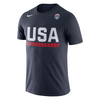 Men's Nike Navy USA Basketball Practice Dri-FIT T-Shirt