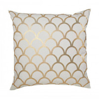 Caitlin Wilson Gold Scallop Pillow | Waiting On Martha