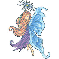 No. 6 Mythical Fairy Temporary Tattoo 2.5x3.5
