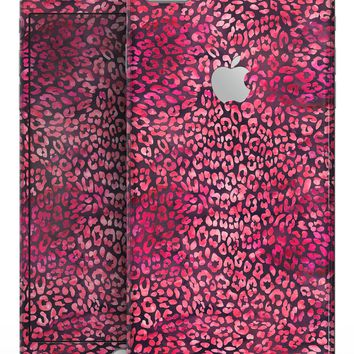 Red Watercolor Leopard Pattern - Skin-kit for the iPhone 8 or 8 Plus