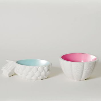 Ceramic Tropical Fruit Bowls
