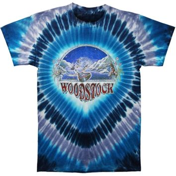 Woodstock Men's  Woodstock Nights Tie Dye T-shirt Blue